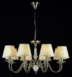 Casa Padrino Barock Kristall Decken Kronleuchter Bronze 79 x H 38 cm Antik Stil - Möbel Lüster Leuchter Hängeleuchte Hängelampe