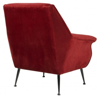 Casa Padrino Luxus Sessel Rot 88 x 80 x H. 91 cm - Designer Club Möbel - Vorschau 3