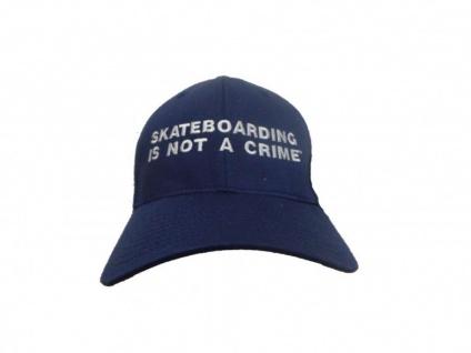 Flexfit Cap Skateboard Is Not A Crime blue S/M
