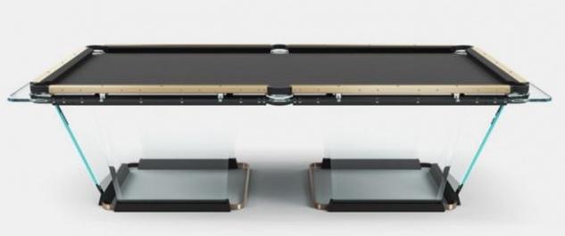 Casa Padrino Luxus Designer Pool Billardtisch 9ft Schwarz / Bronzefarben 290 x 163 x H. 82 cm - Hotel Kollektion - Luxus Qualität
