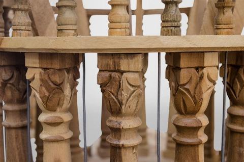 Casa Padrino Barock Vogelpalast handgeschnitzt aus Mahagoniholz H190cm - Vogelhaus Vogelkäfig Antik Stil - Vorschau 5