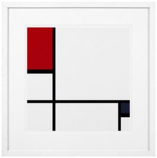 Casa Padrino Designer Deko Bilder 2er Set Mehrfarbig / Weiß 75 x H. 75 cm - Luxus Kunstdrucke - Vorschau 2