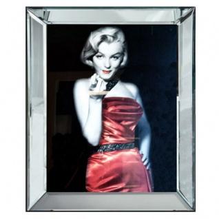 Casa Padrino Designer Bild Lady in Red Marilyn Monroe Mod1 - Limited Edition