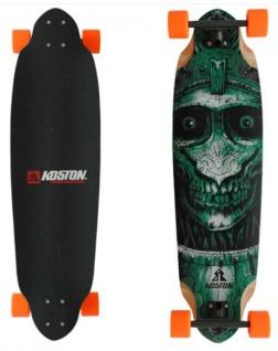 Koston Longboard Profi Komplettboard Cruiser / Carver Skull Amort 36.7 x 10.0 inch Orange Wheels - High End Longboard Carving Board