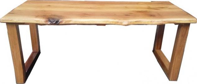 Casa Padrino Vintage Esstisch Eiche Rustikal Massiv 200 x 100 cm Mod TR3 - Landhaus Stil Tisch massives Eichenholz - Vorschau 1