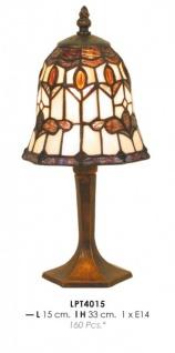 Tiffany Tischleuchte Durchmesser 15cm, Höhe 33cm LPT4015 Leuchte Lampe