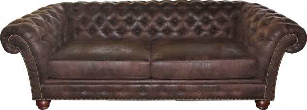 Casa Padrino Limited Edition Designer Chesterfield 3-er Sofa Braun B 226 cm - Club Möbel