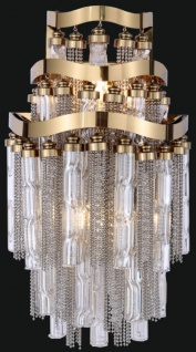 Casa Padrino Luxus Barock LED Wandleuchte Gold 33 x 33 x H. 45 cm - Prunkvolle Wandlampe - Barockstil Wandleuchten - Luxus Qualität