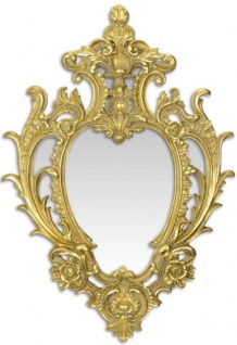 Casa Padrino Barock Wandspiegel Gold 46, 5 x H. 68, 6 cm - Prunkvoller Spiegel im Barockstil - Barock Möbel