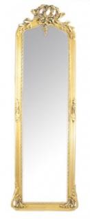 Casa Padrino Luxus Barock Wandspiegel Gold 175 x 55 cm - Massiv und Schwer - Antik Stil Spiegel