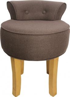Casa Padrino Designer Hocker Boston Mittelbraun - Barock Schminktisch Stuhl - Vorschau 1