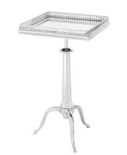 Casa Padrino Luxus Art Deco Designer Beistelltisch Silber - Luxus Hotel Tisch