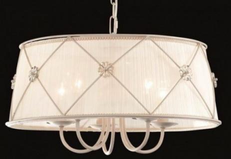 Casa Padrino Barock Decken Kronleuchter Weiß Gold 55 x H 30 cm Antik Stil - Möbel Lüster Leuchter Deckenleuchte Hängelampe