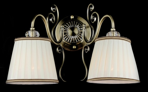 Casa Padrino Barock Kristall Wandleuchte Bronze 27 x H 28 cm Antik Stil - Wandlampe Wand Beleuchtung