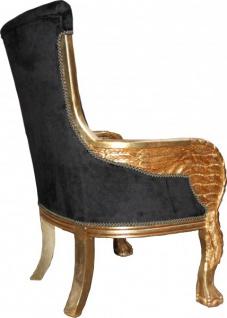 Casa Padrino Barock Lounge Sessel Mod2 71 x 76 x H. 110 cm - Club Möbel