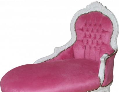 Casa Padrino Barock Kinder Chaiselongue Rosa/ Weiß - Barock Kinder Möbel - Vorschau 2