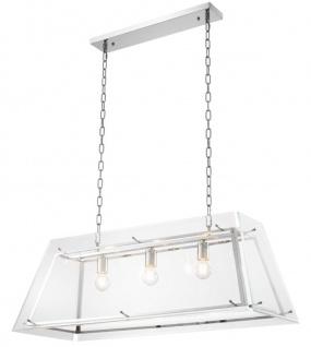 Casa Padrino Kronleuchter Silber 100 x 40 x H. 36 cm - Luxus Wohnzimmer Möbel