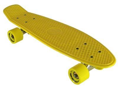 Oldschool Skateboard Plastic Cruiser 70s Style Yellow / Yellow Plastik Skateboard - Vinyl Skateboard Cruiser Longboard