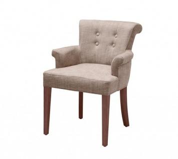 Casa Padrino Luxus Stuhl mit Armlehne Kamelbraun - Luxus Kollektion