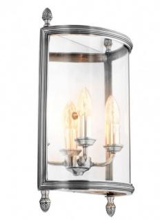 Casa Padrino Luxus Wandleuchte Antik Silber Durchmesser 30 x 13 x H 42 cm - Luxus Leuchte
