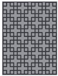 Wunderschöner Luxus Teppich aus 100% Neuseeland-Wolle mit Mäander Muster, Grau/Schwarz, Samtweich 300 x 400 cm - Hochwertige Qualität