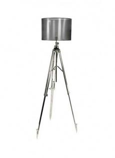 Casa Padrino Luxus Stehleuchte Nickel Durchmesser 50 x 50 x H 110-200 cm - Luxus Qualität
