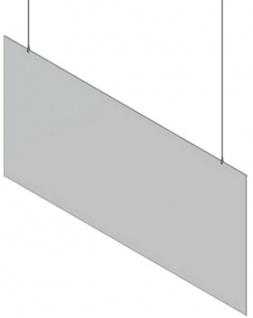 Casa Padrino Kunststoff Hänge-Trennscheibe Transparent 100 x H. 80 cm - Schreibtisch Empfangstheken Theken Spuckschutz Covid-19 Corona Sicherheitsscheibe