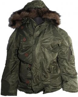 N3B Parka Jacke Olive - Flying Jacket - Fliegerjacke - Winterjacke - Winterparka
