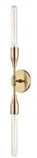 Casa Padrino Luxus Doppel Wandleuchte Antik Messing 12, 1 x 8, 9 x H. 76, 2 cm - Luxus Kollektion
