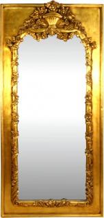 Casa Padrino Barock Wandspiegel Gold Antik Stil 85 x H. 190 cm - Prunkvoller Barock Spiegel mit wunderschönen Verzierungen