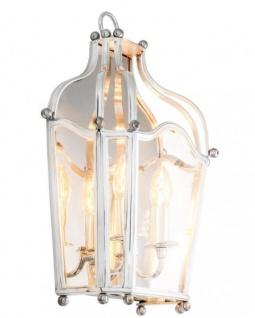 Casa Padrino Luxus Wandleuchte Silber - Luxus Hotel Restaurant Leuchte