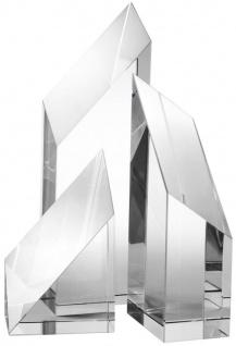 Casa Padrino Luxus Kristallglas Deko Objekte 3er Set - Hotel Restaurant Wohnzimmer Büro Dekoration