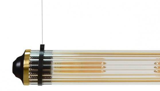 Casa Padrino Luxus Hängeleuchte Schwarz / Messing - Luxus Qualität - Vorschau 2