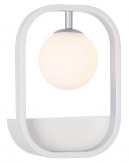Casa Padrino Luxus Wandleuchte Weiß / Silber 17, 8 x 11 x H. 25 cm - Wohnzimmer Wandlampe - Vorschau 2
