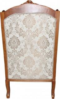 Casa Padrino Barock Ohrensessel Creme / Braun / Gold Mod2 - Möbel Antik Stil - Limited Edition - Vorschau 3