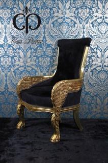Casa Padrino Barock Lounge Sessel Eagle Feather 71 x 76 x H. 110 cm - Wohnzimmermöbel