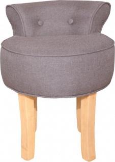 Casa Padrino Designer Hocker Boston Braun - Barock Schminktisch Stuhl