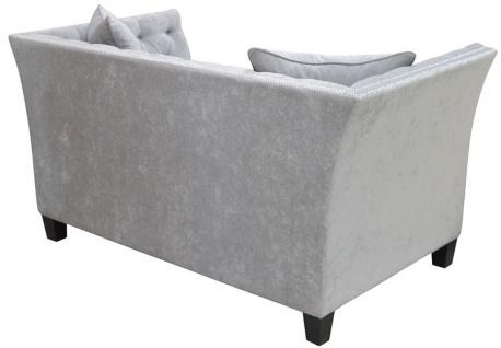 Casa Padrino Luxus Chesterfield Samt Sofa mit Kissen 174, 5 x 91 x H. 86 cm - Verschiedene Farben - Wohnzimmer Möbel - Chesterfield Möbel - Vorschau 4