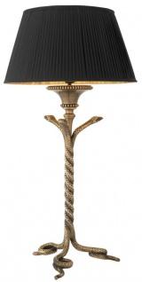 Casa Padrino Luxus Designer Messing Tischleuchte - Hotel Restaurant Tischlampe