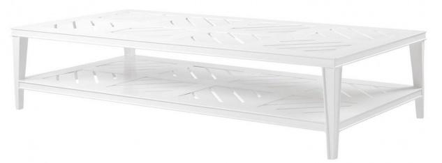 Casa Padrino Luxus Couchtisch Weiß 180 x 90 x H. 42 cm - Rechteckiger Wohnzimmertisch aus hochwertigen strapazierbarem Aluminium - Gartentisch