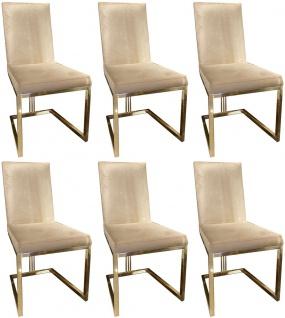Casa Padrino Luxus Esszimmer Stuhl Set Silber Dunkelbraun