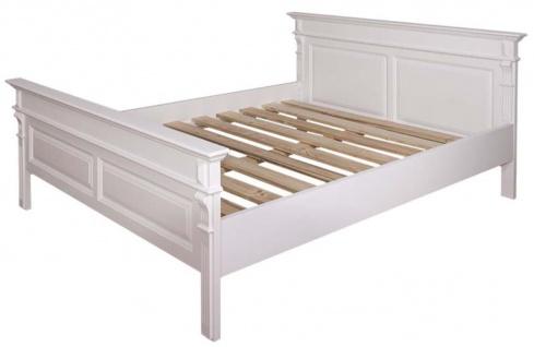 Casa Padrino Landhausstil Bett Weiß - Verschiedene Größen - Massivholz Schlafzimmermöbel