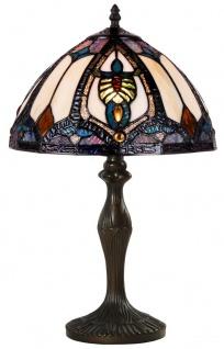 Casa Padrino Tiffany Tischleuchte Mehrfarbig Ø 31 x H. 48 cm - Luxus Tischlampe aus zahlreichen Glas Mosaik Stücken - Vorschau