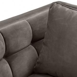 Casa Padrino Luxus Samt Sessel mit 2 Kissen Grau / Messingfarben 104 x 95 x H. 68 cm - Luxus Wohnzimmer Möbel - Vorschau 4