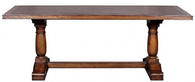 Casa Padrino Luxus Landhausstil Esstisch Braun 210 x 102 x H. 77 cm - Rustikaler Massivholz Küchentisch - Rustikale Landhausstil Massivholz Esszimmer Möbel