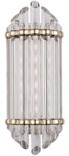 Casa Padrino Luxus Art Deco LED Wandleuchte Antik Messing 16, 5 x 10, 8 x H. 41, 9 cm - Luxus Qualität