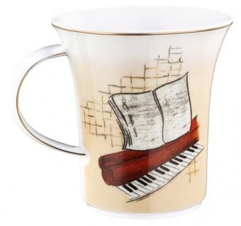 """Handgearbeiteter Becher mit Henkel aus Porzellan mit einem Motiv von T. Lautrec """" May Belfort"""" 0, 25 Ltr. - feinste Qualität aus der Tettau Porzellanfabrik - Vorschau 2"""