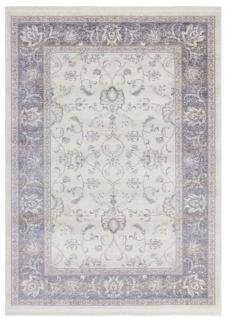 Casa Padrino Wohnzimmer Teppich Elfenbeinfarben - Verschiedene Größen - Rechteckiger Teppich im Vintage Look - Wohnzimmer Deko