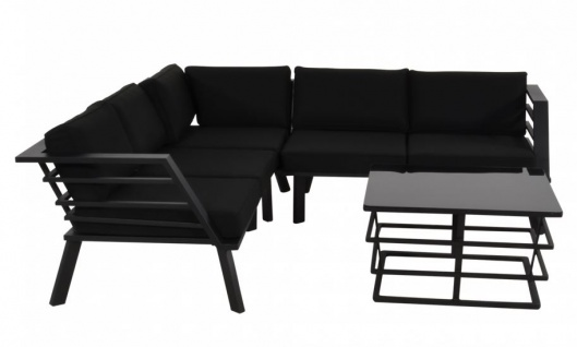 Casa Padrino Gartenmöbel Set mit Polsterung + Sessel + Tisch - Lounge Set - Vorschau 2
