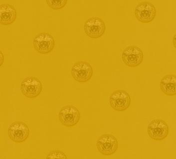 Versace Designer Barock Vliestapete Vanitas 348624 Gold / Kupfer - Design Tapete - Luxus Deko Accessoires